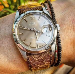Image of Vintage cracked goatskin watch strap