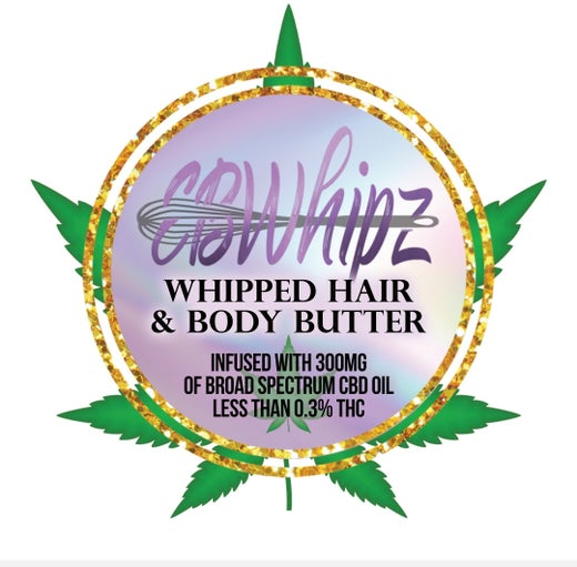 CBD infused whipped body butter