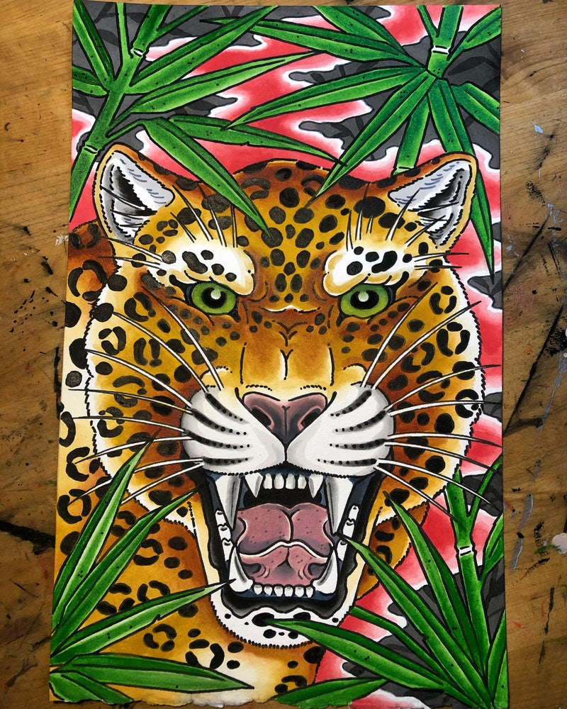 Image of Jaguar and Bamboo