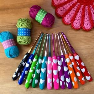 Image of Heart Crochet Hooks