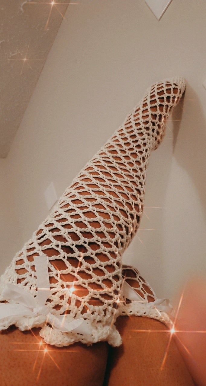 Image of Diamond Fishnet Thigh Highs