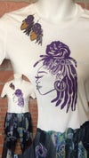 Dreadloc Queen Set with T-shirt and matching Earrings