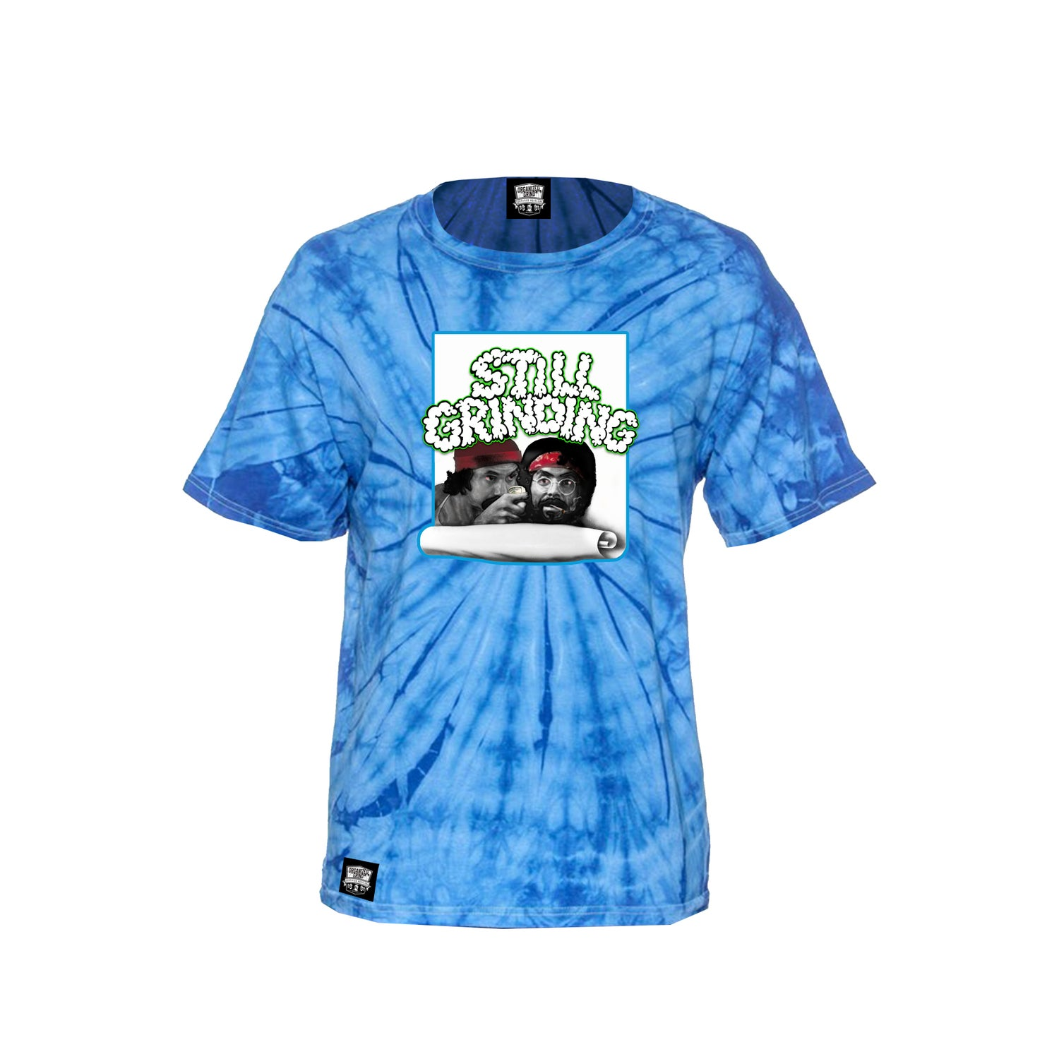 "Image of New ""Still Grinding"" Tye Dye Shirt & Hats"