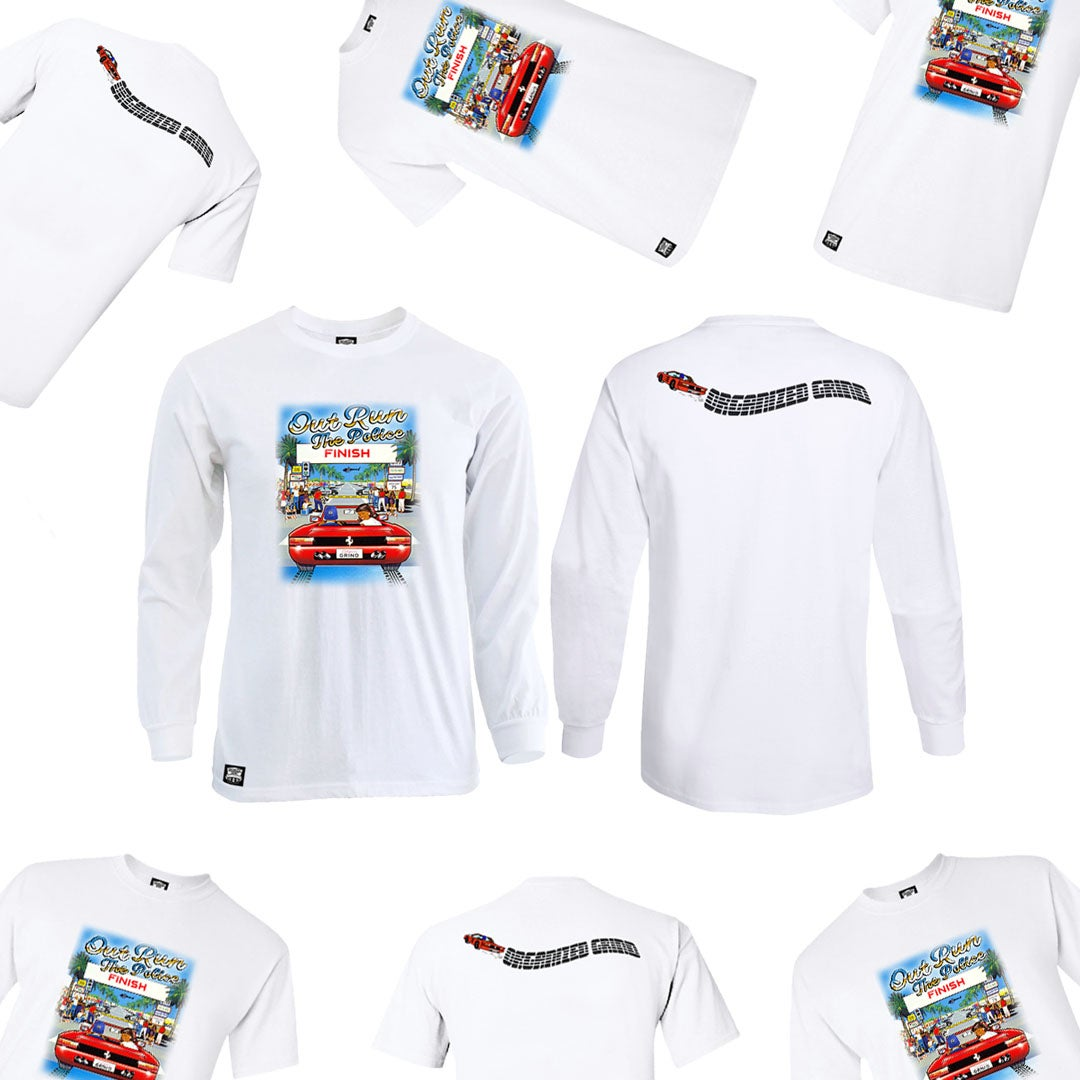 """Image of  """"Out Run The Police"""" Shirts"""