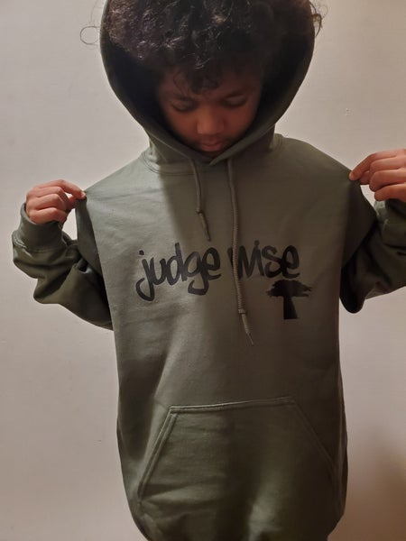 Image of Judge Wise  Strength Tree Of Life Army Green  Hoodies