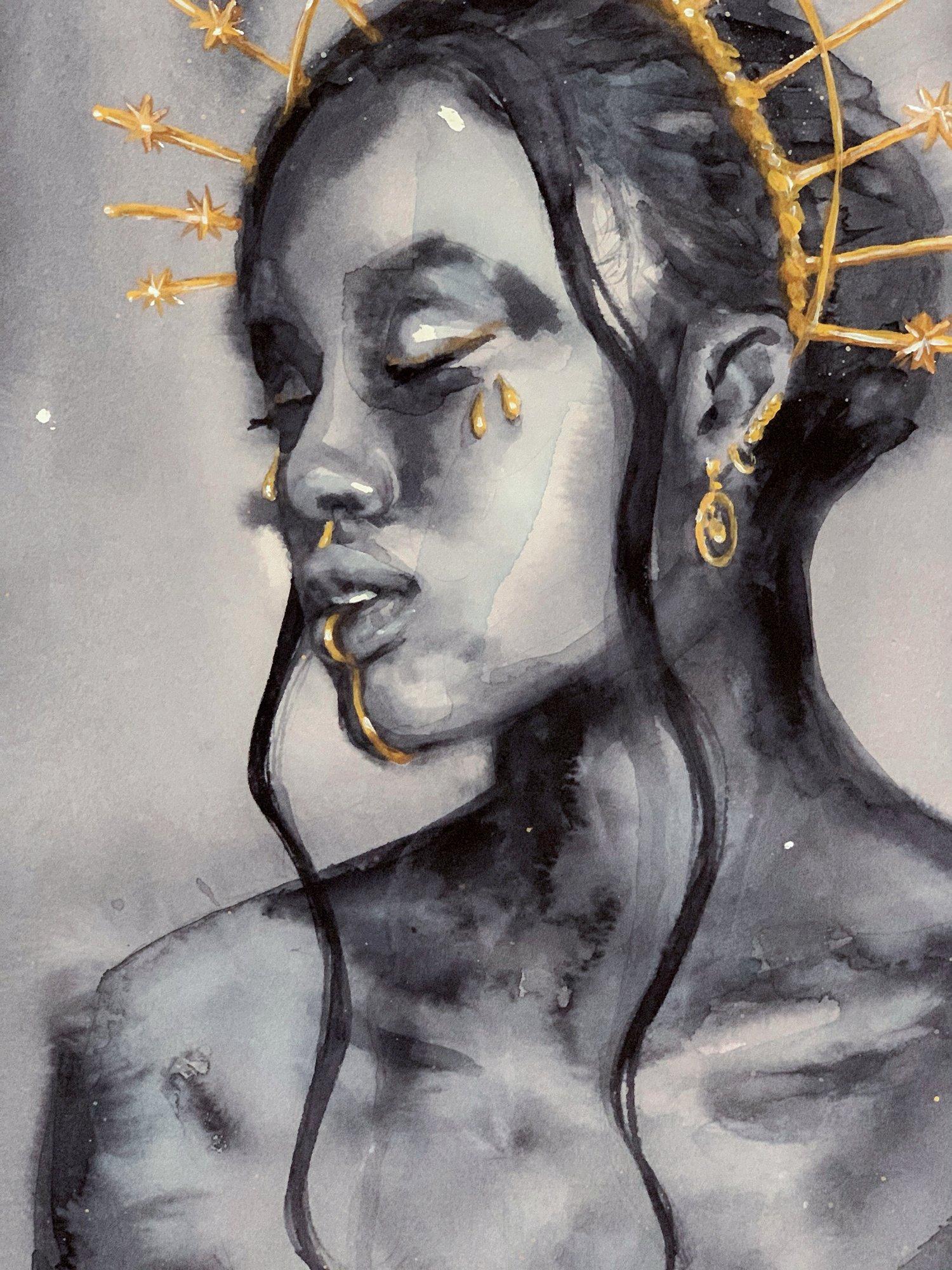 Agnes-Cecile black sun goddess