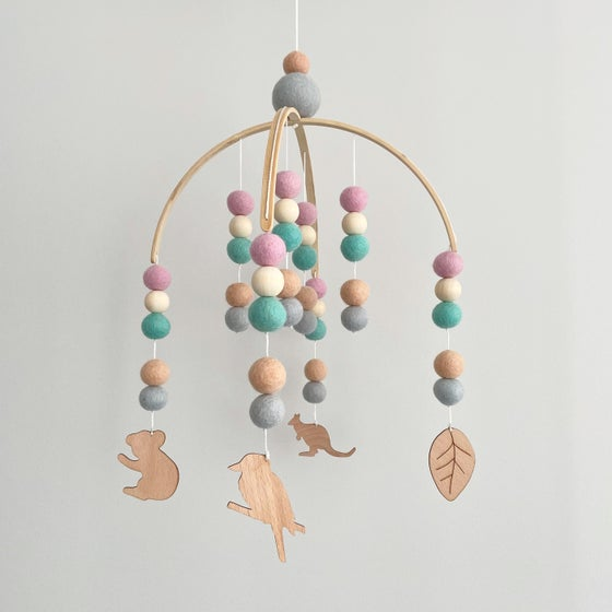 Image of Australiana Felt ball mobile - pastels