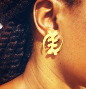 Image of Gye Nyame Stud Earrings