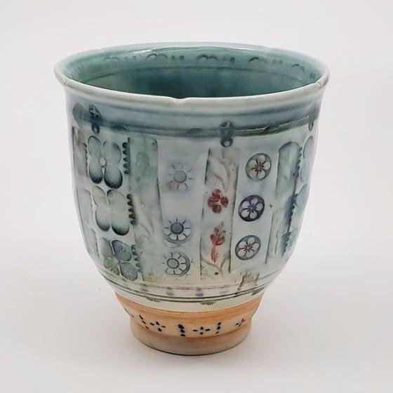 Image of Rasberry Flower Porcelain Tea Cup