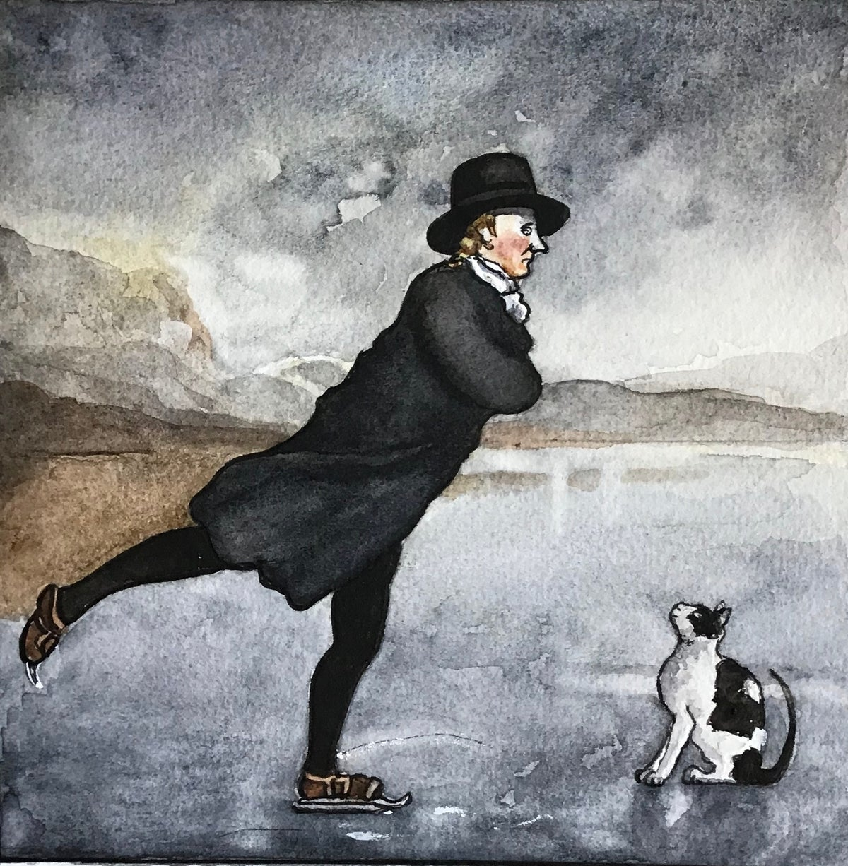 Image of 'N'ice Moves!' Bridget and the 'Skating Vicar' Giclee Print