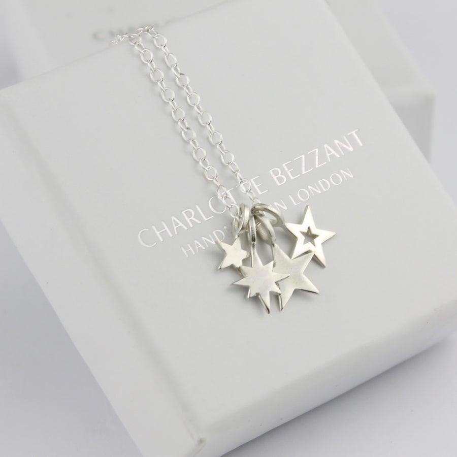 Image of Silver cluster necklace