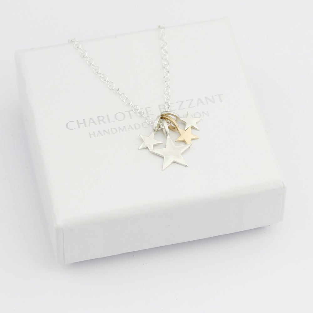 Image of Silver and gold constellation necklace