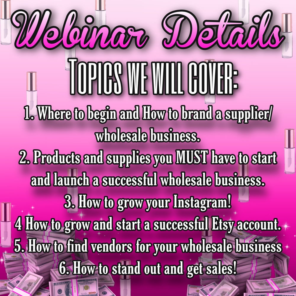 HOW TO START A WHOLESALE BUSINESS WEBINAR ✨