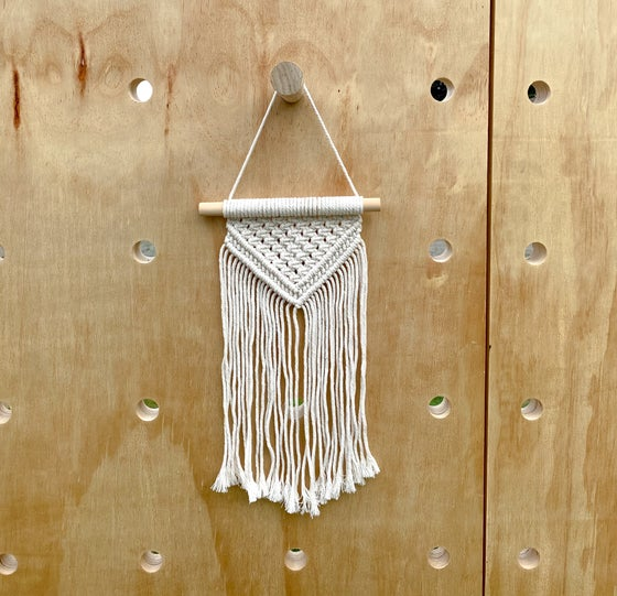 Image of Small White Macrame Wall Decor