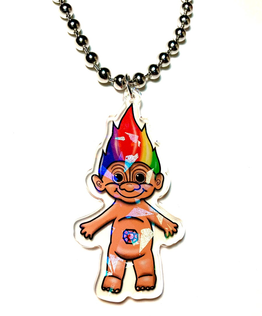 Image of Troll Ball Chain Necklace