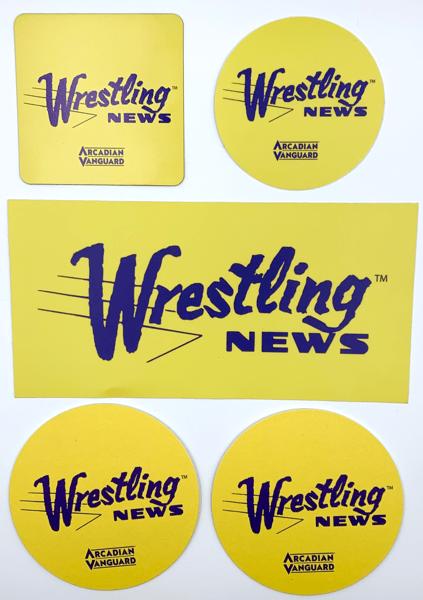 Image of Wrestling News Sticker, Magnet & Coaster Set