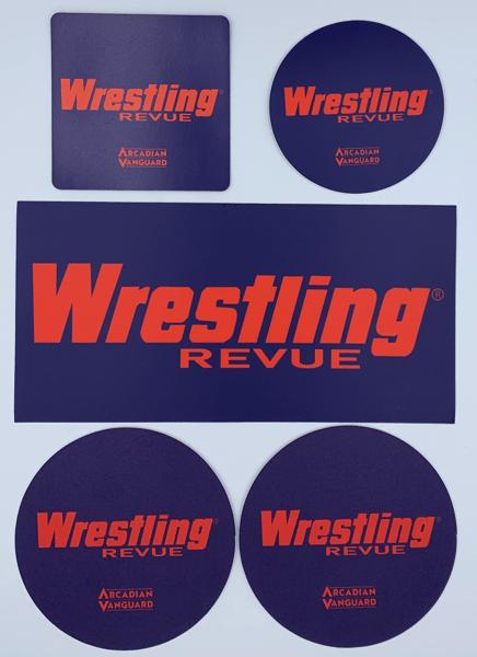 Image of Wrestling Revue Sticker, Magnet & Coaster Set
