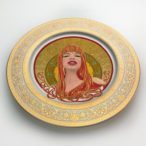 Image of ¿Tu quien eres? - La veneno - Large fine China Plate - #0745