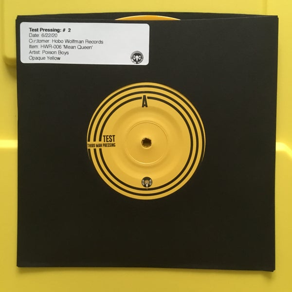 "Image of Poison Boys - Mean Queen 7"" Test Pressing"