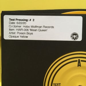 """Image of Poison Boys - Mean Queen 7"""" Test Pressing"""