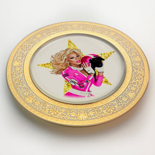 Image of Drag Race - Fine China Plate - #0742