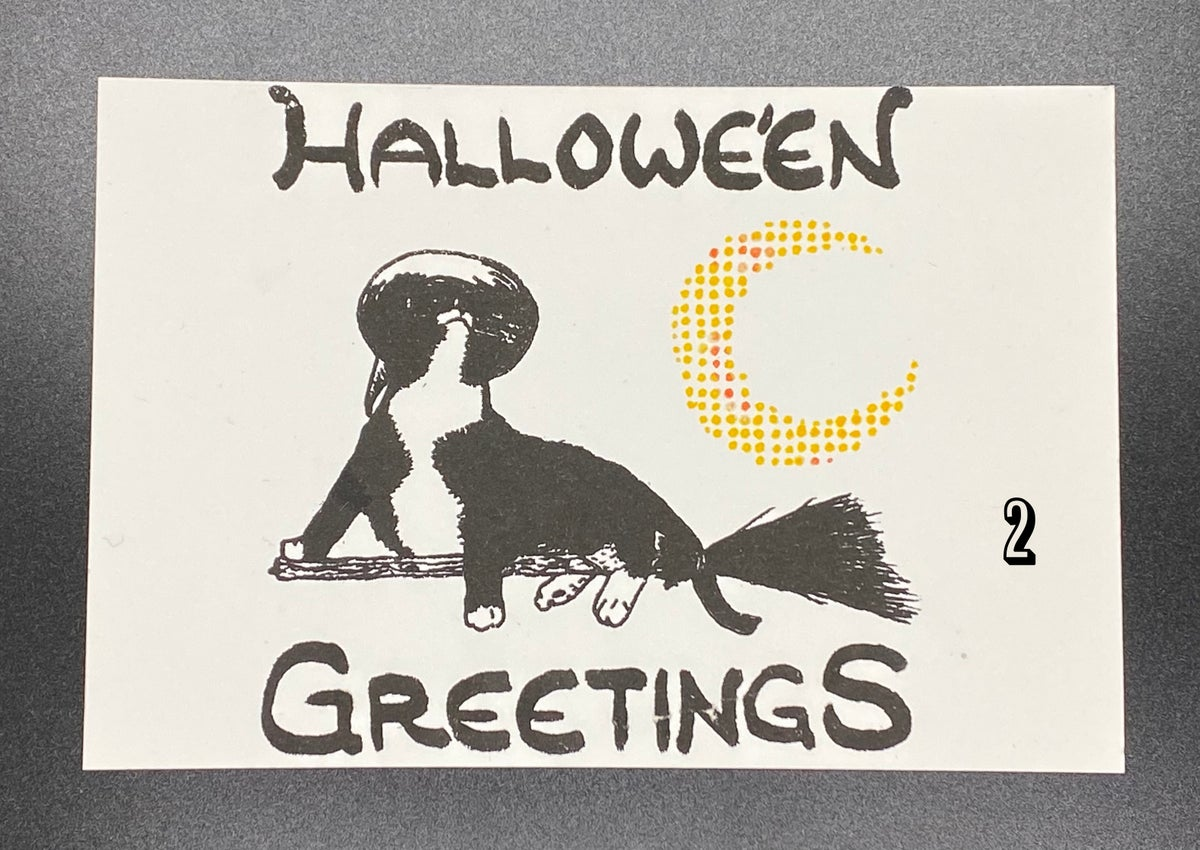 Image of Witch Cat - Hallowe'en Greetings print
