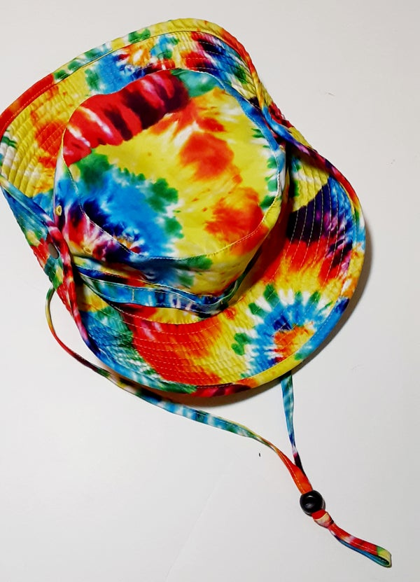 Image of Rainbow Die Snap Safari Bucket Hat