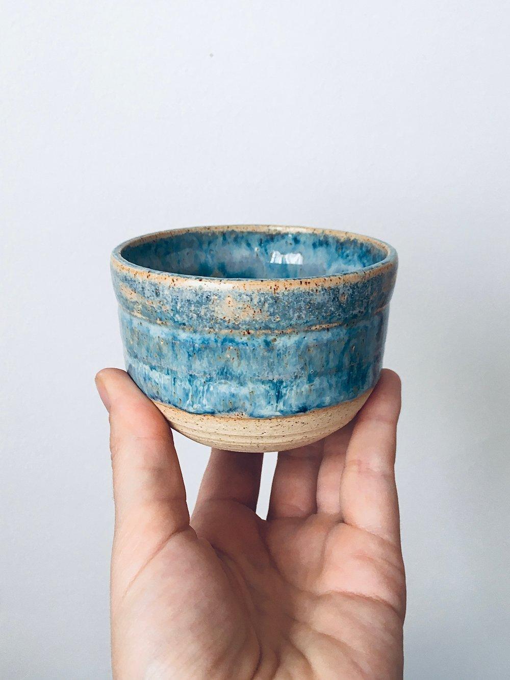 Image of Sea Foam Stoneware Cup #1