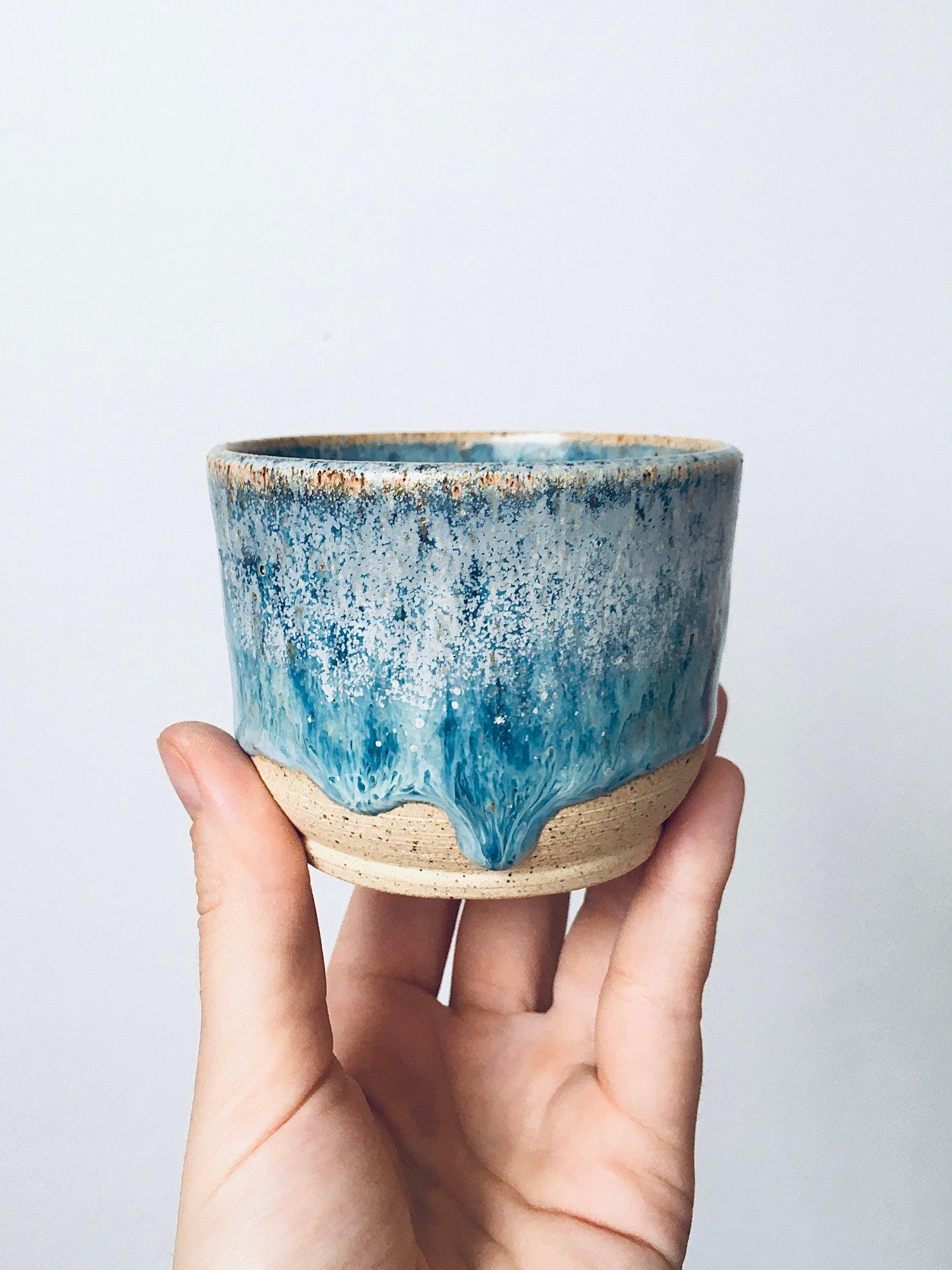 Image of Sea Foam Stoneware Cup #2