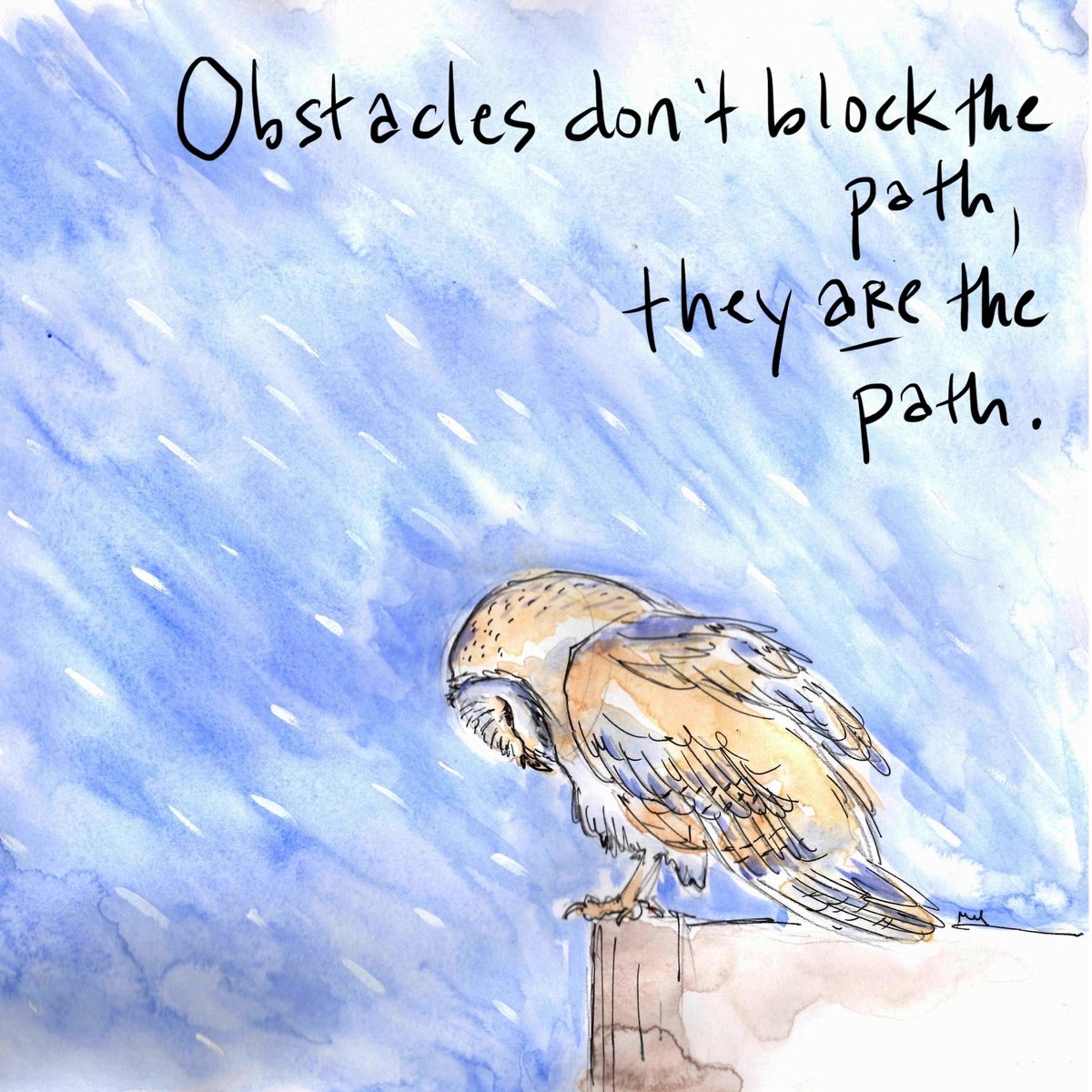 Image of Obstacles Owl Print