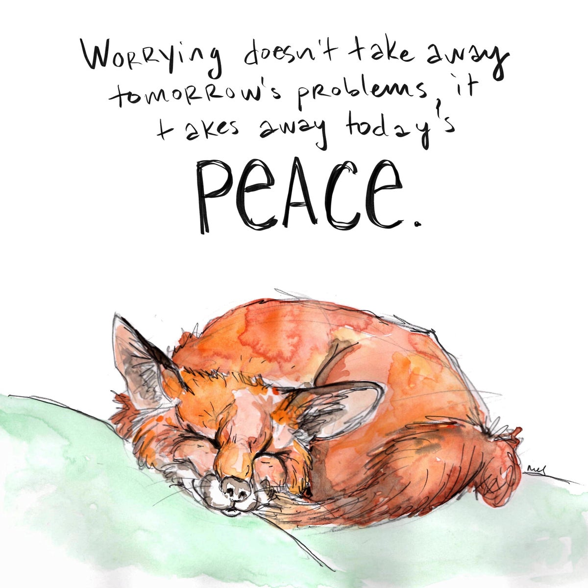 Image of Peace Fox Print