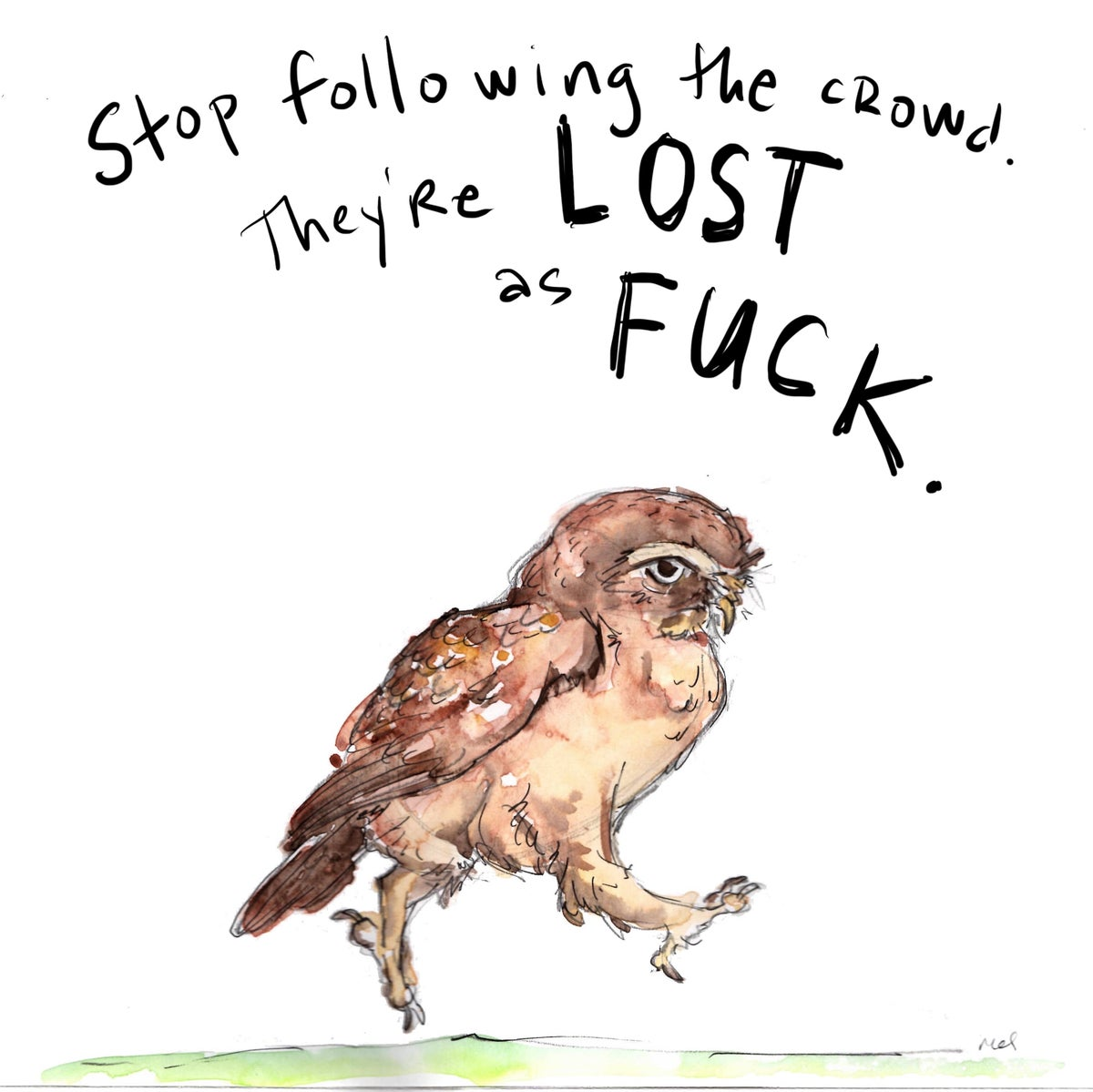Image of Owl Follower Print