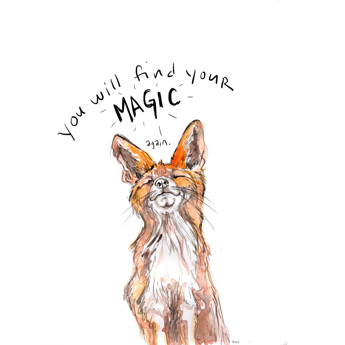 Image of Magic Fox Greeting Cards (square, set of 5)