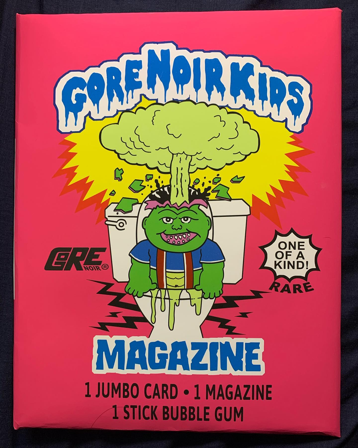 Image of Gore Noir Kids Faux GPK Wrapper JUMBO 8.5x11 w/Ghost LE Mag Inside
