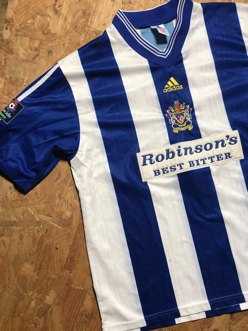 Match Worn 1998/99 adidas Home Shirt 7
