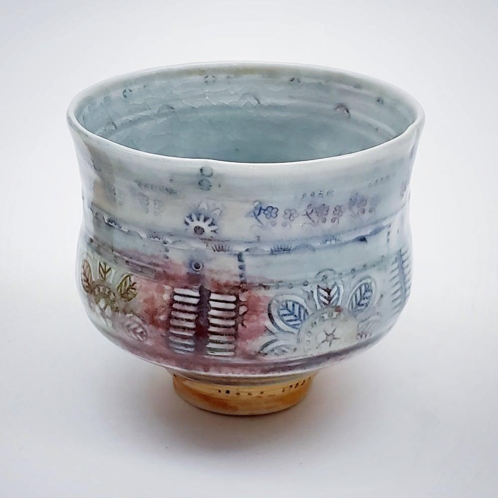 Image of Saffron Flower Porcelain Tea Bowl
