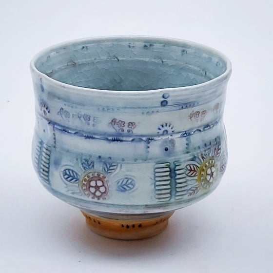 Image of Saffron Flower Porcelain Tea Bowl