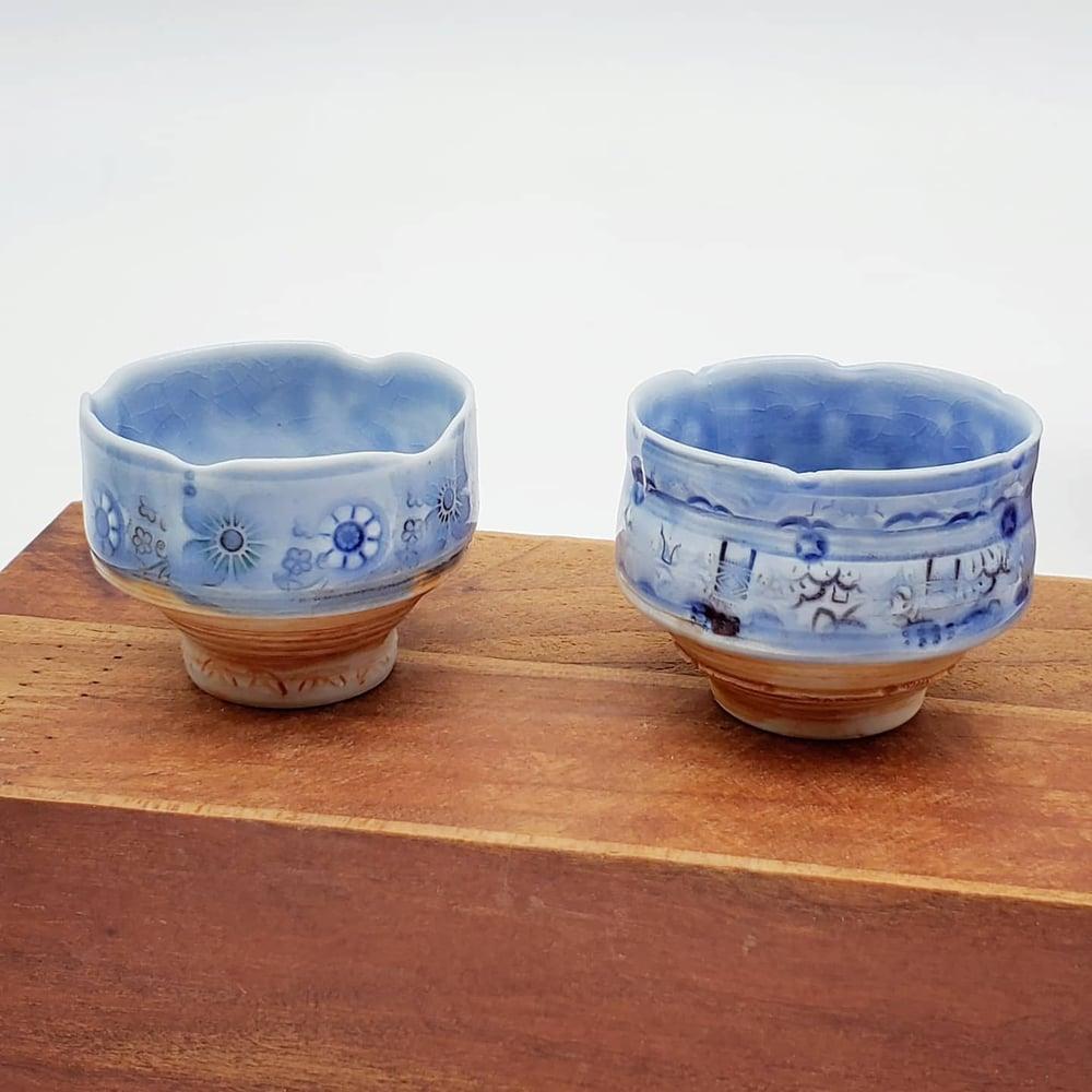 Image of Tiny Porcelain Haiku Bowls