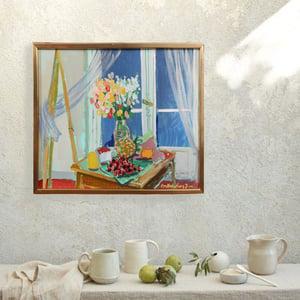 Image of Eva Holmberg - Jacobsson 1950's Swedish Oil Painting