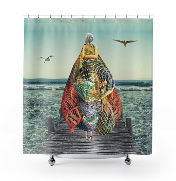 Image of Plate No.57 Shower Curtain