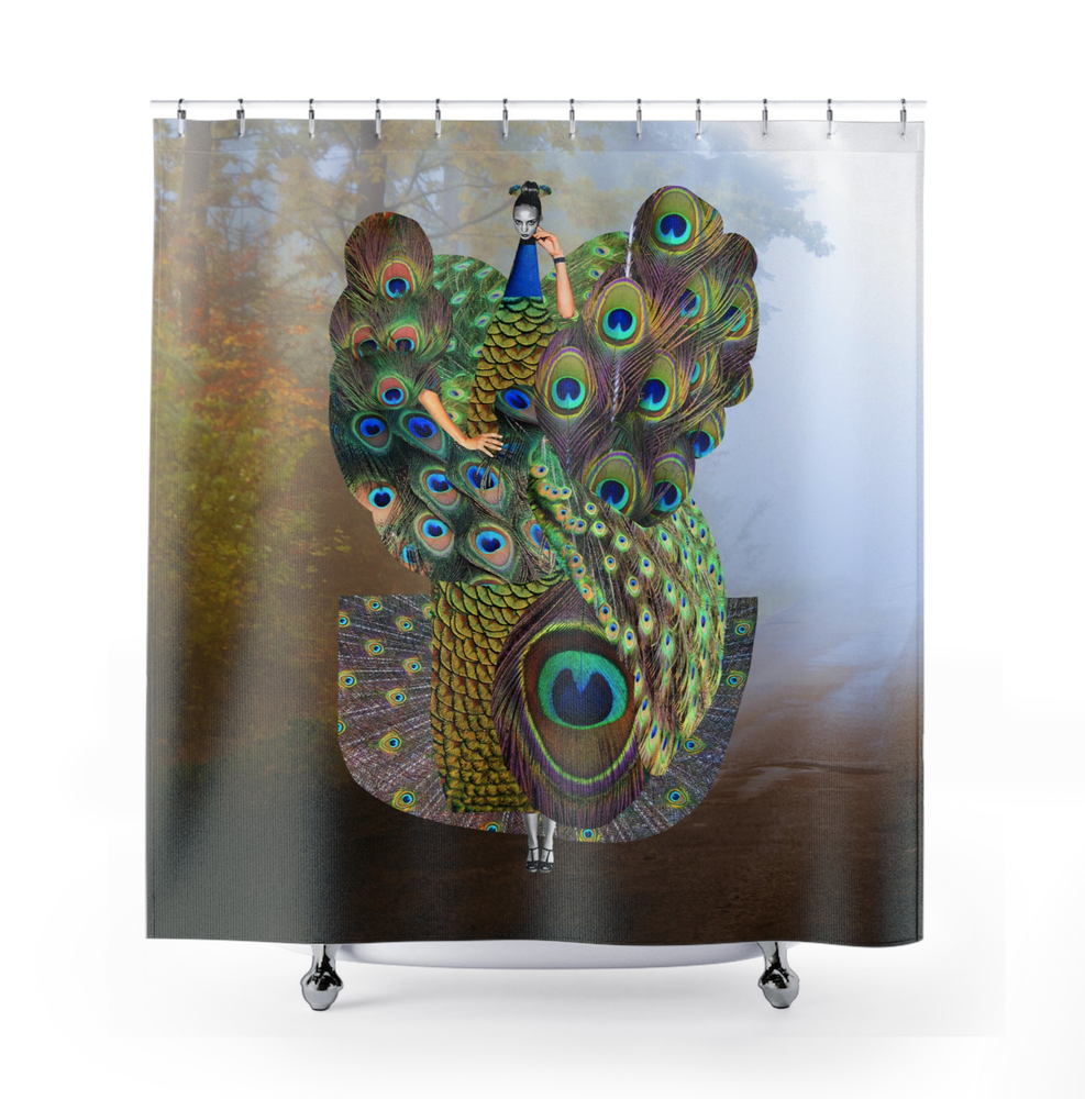 Image of Plate No.65 Shower Curtain