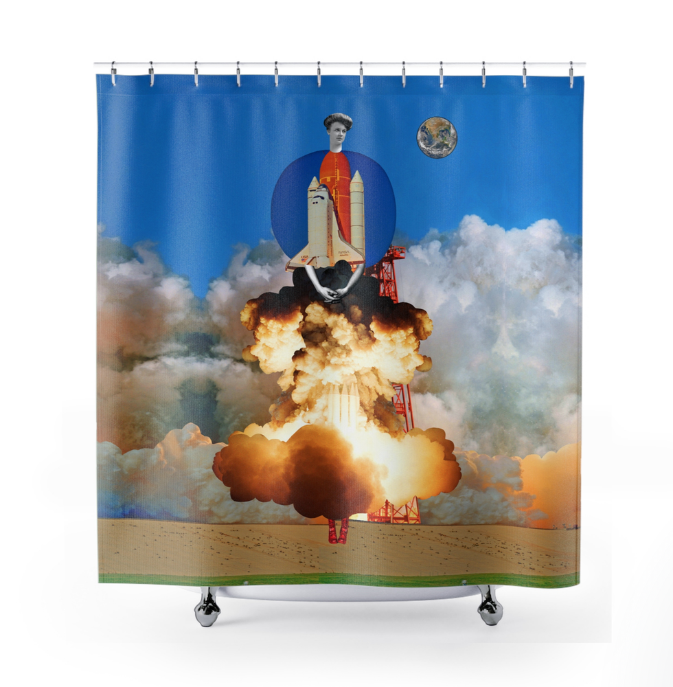 Image of Plate No.206 Shower Curtain