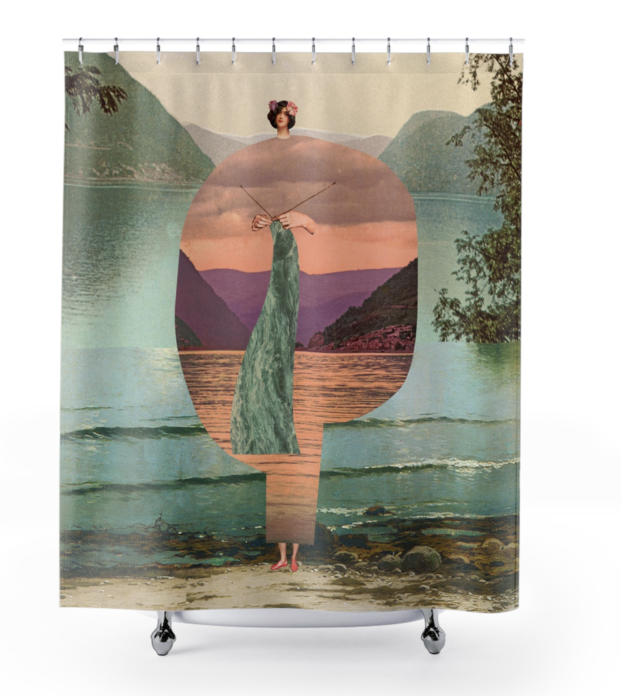 Image of Plate No.380 Shower Curtain