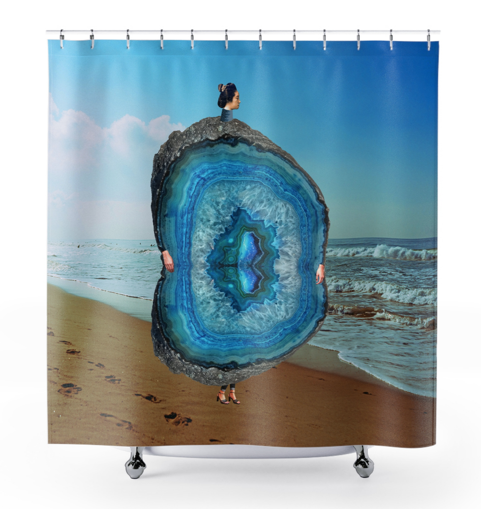 Image of Plate No.245 Shower Curtain