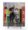 Plate No.300 Shower Curtain