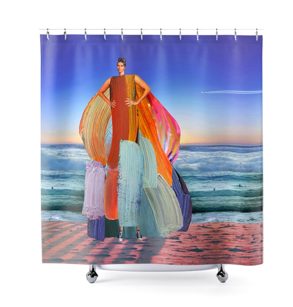 Image of Plate No.56 Shower Curtain