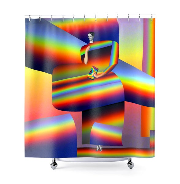 Image of Plate No.62 Shower Curtain