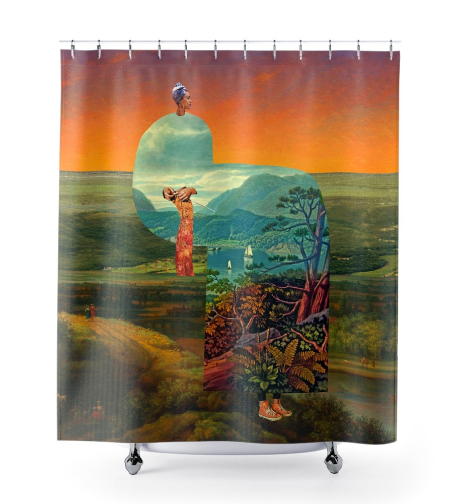 Image of Plate No.371 Shower Curtain
