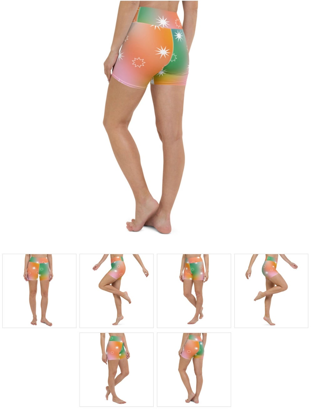 Image of Fairy Dust print Yoga Shorts