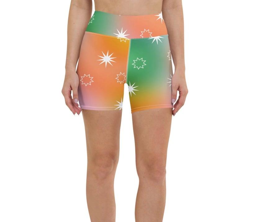 Image of Fairy Dust print Yoga Shorts